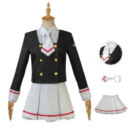 Sakura Kinomoto Costume Cardcaptor Sakura: Clear Card Cosplay School Uniform