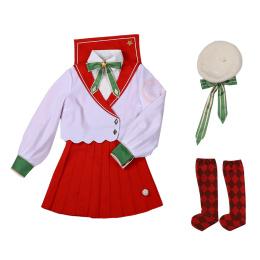 Sakura Kinomoto Costume Cardcaptor Sakura Cosplay Red Uniform For Christmas Party