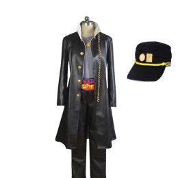 Anime Jojo'S Bizarre Adventure Jotaro Kujo Cosplay Uniform Made Costume