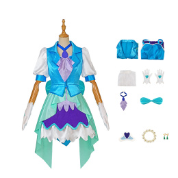 Cure Fontaine Costume Healin' Good Pretty Cure Cosplay Chiyu Sawaizumi Full Set