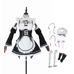 Rem Costume Re:Zero-Starting Life In Another World Cosplay Ram Outfit