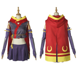 Momo Minamoto Costume RELEASE THE SPYCE Cosplay Purple Outfit For Halloween