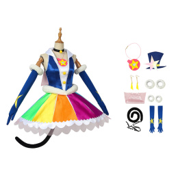 Yuni Mao Costume Star☆Twinkle Pretty Cure Cosplay Cure Cosmo Outfit