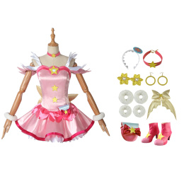 Hoshina Hikaru Costume Star☆Twinkle Pretty Cure Cosplay Full Set For Party
