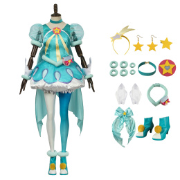 Milky Hagoromo Lala Costume Star☆Twinkle Pretty Cure Cosplay Full Set For Halloween