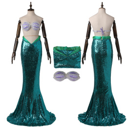 Princess Ariel Costume The Little Mermaid Cosplay Disney Princess
