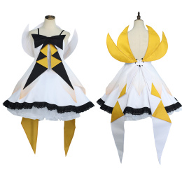 Kagamine Rin Costume HATSUNE MIKU WITH YOU Cosplay Cute Dress