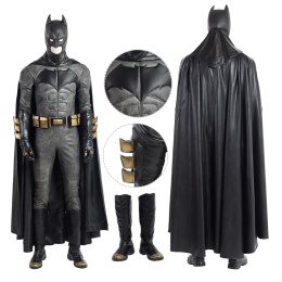 Batman Costume Justice League Cosplay Bruce Wayne Full Set