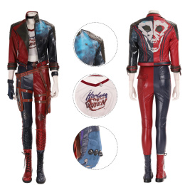 Harley Quinn Costume Suicide Squad: Kill The Justice League Cosplay Halloween Full Set