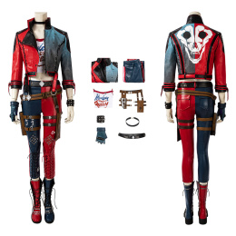 PS5 Harley Quinn Costume Suicide Squad: Kill The Justice League Cosplay Full Set