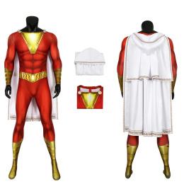 Shazam Costume Shazam! Cosplay Billy Batson Jumpsuit