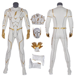 Godspeed Costume The Flash 5 Cosplay August Heart White Fashion Man Full Set