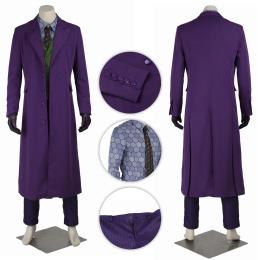Joker Costume The Dark Knight Cosplay Purple Color
