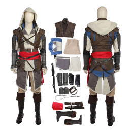 Edward Kenway Costume Assassin's Creed IV Black Flag Cosplay Full Set