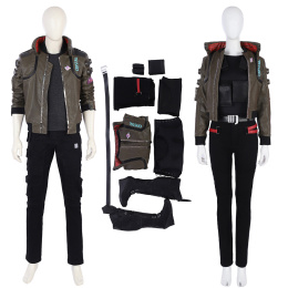 Punk Costume Cyberpunk 2077 Cosplay Punk Male And Female Jacket