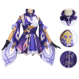 Keqing Costume Genshin Impact Cosplay For Halloween and Charistmas Party