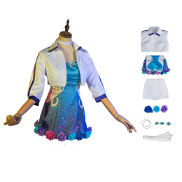 Seraphine Costume League of Legends Cosplay Rising Star Dress