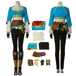 Princess Zelda Costume The Legend of Zelda: Breath of the Wild Cosplay For Halloween Full Set