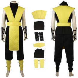 Scorpion Costume Mortal Kombat X Cosplay Halloween Outfit