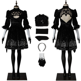 Automata 2B YoRHa NO.2 Type B Costume NieR:Automata Cosplay Women Dress