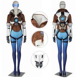 Tracer Costume Overwatch Cosplay Lena Oxton Blue Color