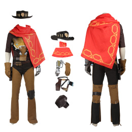 Bounty Hunter Costume Overwatch Cosplay Jesse McCree For Christmas