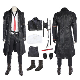 Playerunknown's Battlegrounds PUBG Costume Cosplay Leather Trench Full Outfit Set