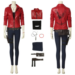 Biohazard Claire Costume Resident Evil 2 Remake Cosplay High Quality Clothes