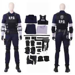 Leon Scott Kennedy Costume Resident Evil 2 Cosplay Full Set Halloween