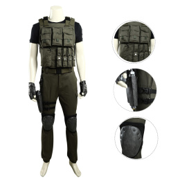 Carlos Oliveira Costume Resident Evil 3 Cosplay Halloween Costumes