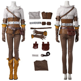 Cirilla Costume The Witcher 3 Cosplay Christmas Outfit