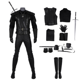 Geralt of Rivia Costume The Witcher 3: Wild Hunt Cosplay Outfit White Wolf Full Set