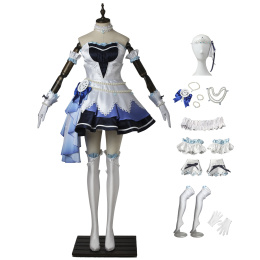 Uzuki Shimamura Costume THE IDOLM@STER CINDERELLA GIRLS: STARLIGHT STAGE Cosplay Blue Outfits