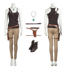 Lara Croft Costume Tomb Raider Cosplay For Halloween And Christmas