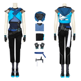 Jett Costume Valorant Cosplay Halloween Outfit