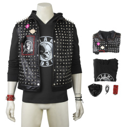 Wrench Costume Watch Dogs 2 Cosplay Black Punk Outfit