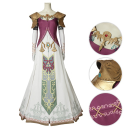 Princess Zelda Costume The Legend of Zelda: Twilight Princess Cosplay Beautiful Dress