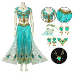 Princess Jasmine Costume 2019 Movie Aladdin Cosplay Party Dress