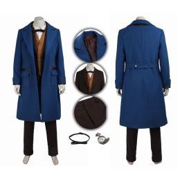 Newt Scamander Costume Fantastic Beasts and Where to Find Them Cosplay Fashional Suit
