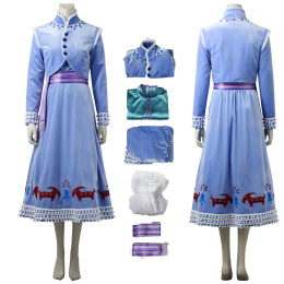 Anna Costume Olaf's Frozen Adventure Cosplay