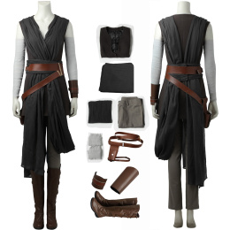 Rey Costume Star Wars The Last Jedi / Star Wars Season 8 Cosplay Full Set For Women