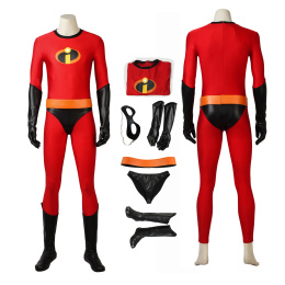 Mr Incredible Costume The Incredibles 2 Cosplay Bob Parr Red Full Set