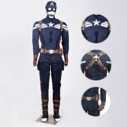 Captain America Costume Captain America: The Winter Soldier Cosplay Steve Rogers Full Set
