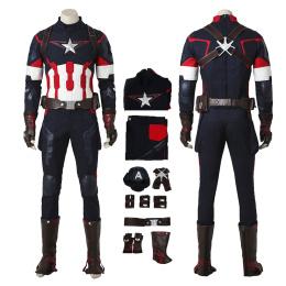 Captain America Costume Avengers: Age of Ultron Cosplay Steve Rogers Full Set