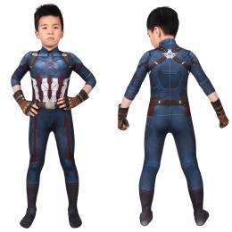 Captain America Costume Avengers: Infinity War Cosplay Steve Rogers Full Set For Kids
