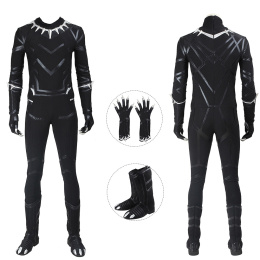 Black Panther Costume Captain America: Civil War Cosplay T'Challa For Christmas And Halloween