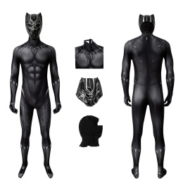 T'Challa Costume Black Panther Cosplay Jumpsuit