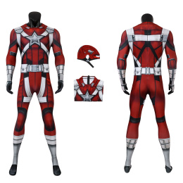 Red Guardian Costume Black Widow Cosplay Jumpsuit For Men