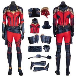 Captain Marvel Costume 2019 Avengers Endgame Cosplay Carol Danvers Red Woman Fashion Full Set