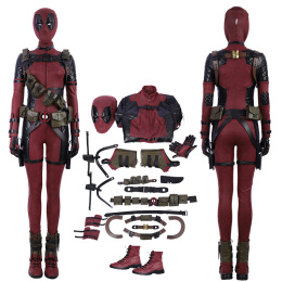 Ladypool Costume Deadpool 2:Once Upon A Deadpool Cosplay Wanda Wilson Full Set Deluxe Version